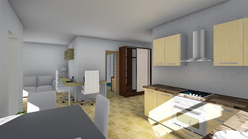 """Проект минидома """"Студия-1"""" - визуализация дачного жилья"""
