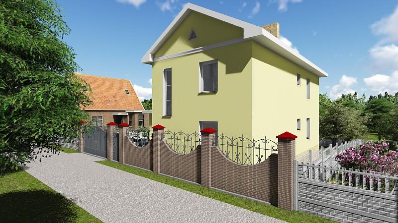 """Типовой проект двухэтажного дома """"Артемовский"""" - визуализация"""