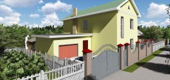 Проект двухэтажного загородного дома с гаражом «Артемовский»