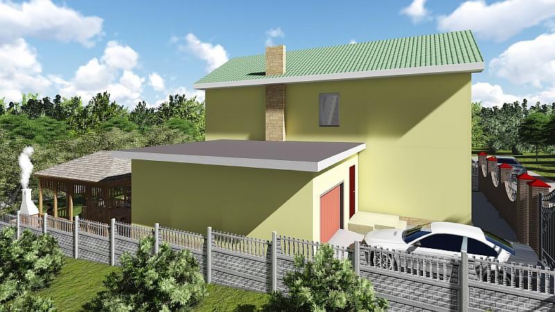 """Двухэтажный жилой дома с гаражом """"Артемовский"""" - визуализация проекта"""