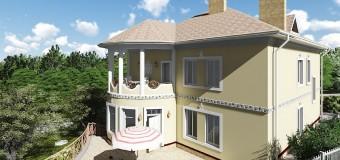 Проект коттеджа премиум класса или гостиницы семейного типа «Аревахач»