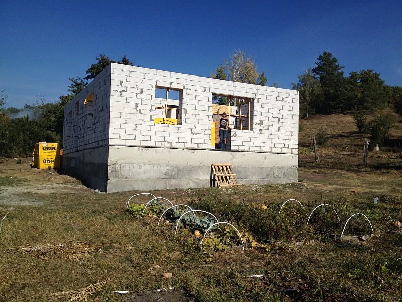Уже можно оценить окрестные вид с уровня будущей летней террасы дома