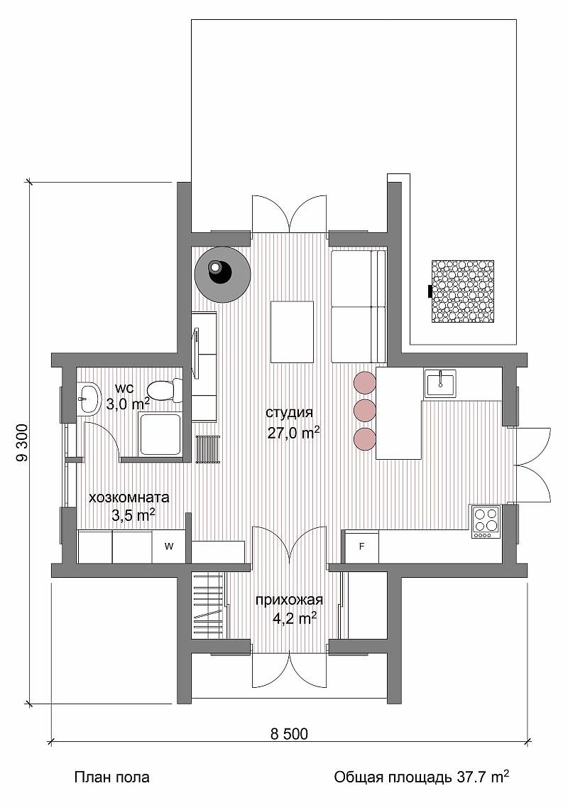 "План жилого дома по проекту ""Лотос"""