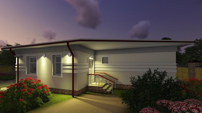 """Проект минидома """"Студия-2"""" - дачный дом с """"растущими"""" возможностями"""