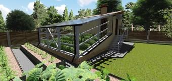 Проект вегетария Иванова «Урожайный» с летней кухней и подвалом