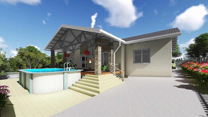 """Типовой одноэтажный дом """"Чарли"""" - визуализация проекта"""