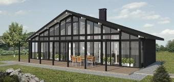 Проект одноэтажного жилого дома «Солнечная машина»
