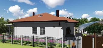 Проект одноэтажного бюджетного дома «Удянский-2»