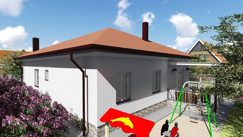 """Проект бюджетного одноэтажного дома """"Удянский-2"""" - визуализация"""