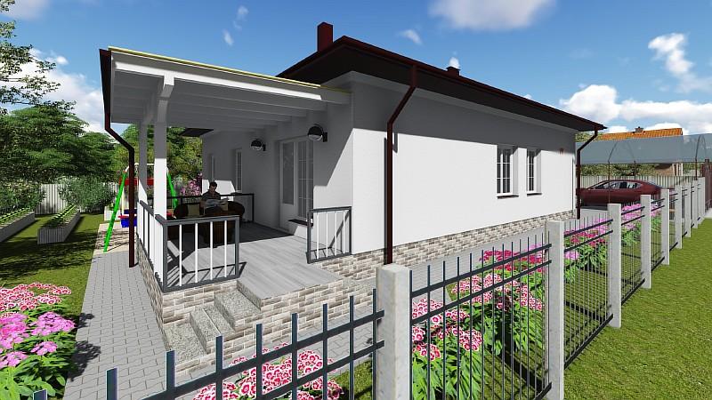 """Визуализация проекта одноэтажного бюджетного дома """"Удянский-2"""""""