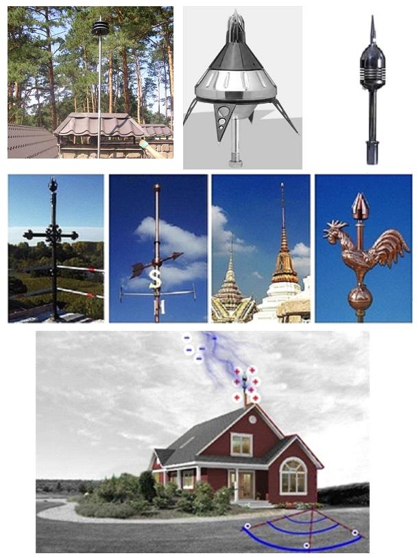 Примеры активной молниезащиты