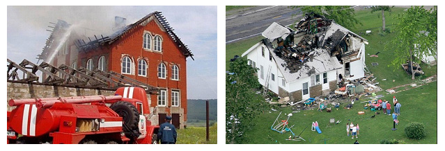 Последствия попадания молнии в дом без молниеотвода