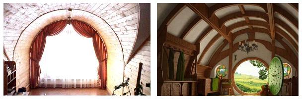 Внутренняя отделка арочных домов