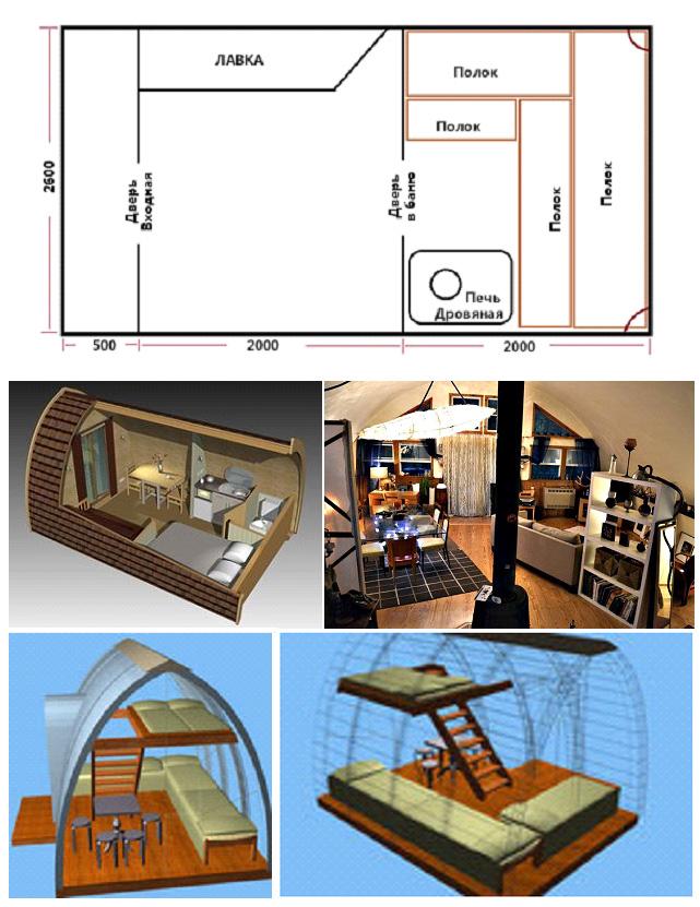 Планировка арочного дома