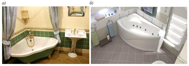 Варианты форм угловых ванн