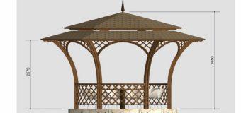 Проект деревянной беседки «Ажур»