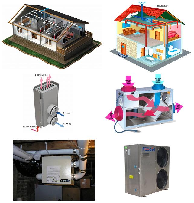 Рекуператор воздуха в системе вентиляции дома