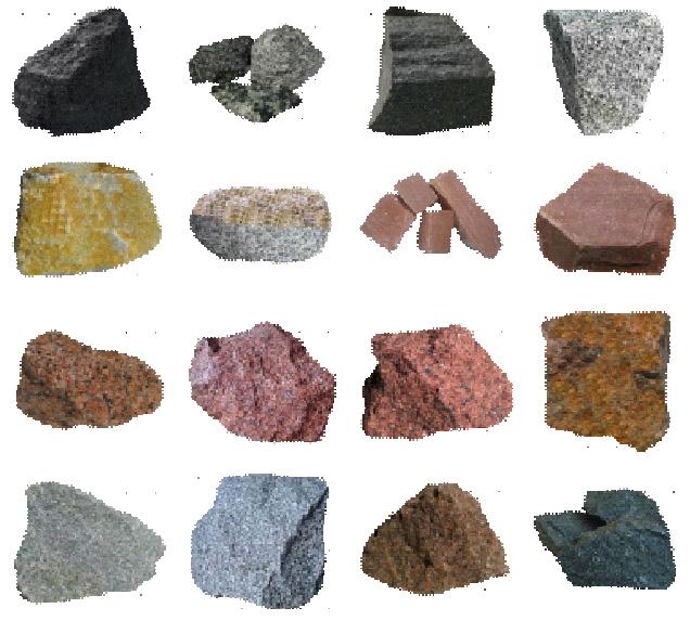 Разные виды природных камней для заполнения забора из габионов