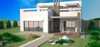 Проект дома «Комплекс» с гаражом, бассейном и сауной