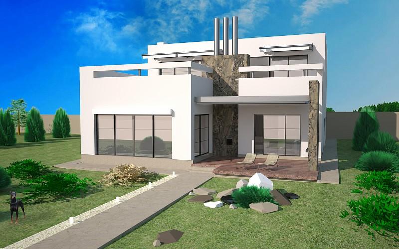"""Проект дома с гаражом, бассейном и сауной """"Комплекс"""""""