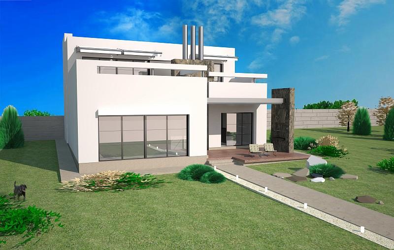 """Проект двухэтажного дома с гаражом, бассейном и сауной """"Комплекс"""""""