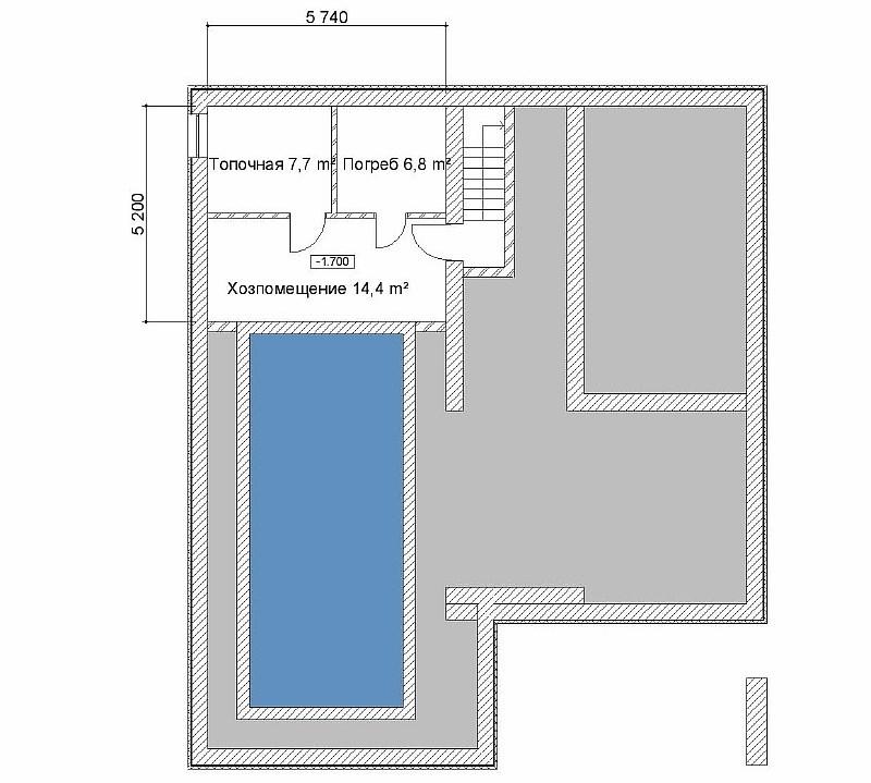 План подвала жилого дома Комплекс