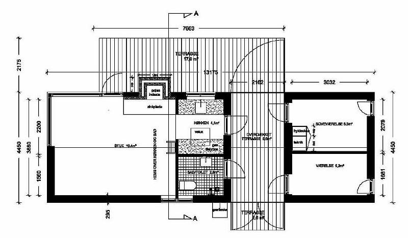 Модель дома Længehus 55
