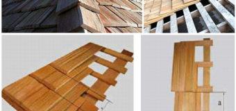 Деревянная гонтовая кровля — конструкция, способы укладки, виды гонта