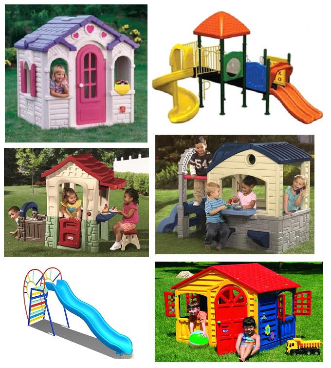 Детские пластиковые площадки (конструкции) для самых маленьких