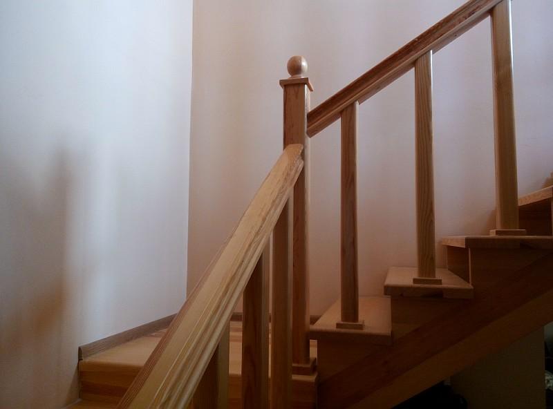 Верхняя площадка лестницы после ее изготовления