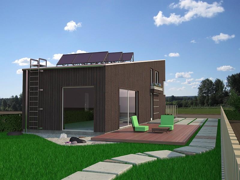 """Загородный дом """"Рацио"""" - визуализация проекта"""