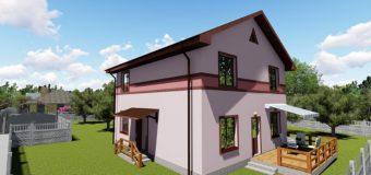 Проект бюджетного двухэтажного дома «Видный»