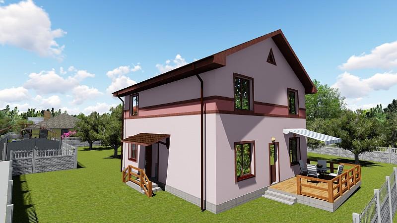 """Визуализация проекта бюджетного двухэтажного дома """"Видный"""""""