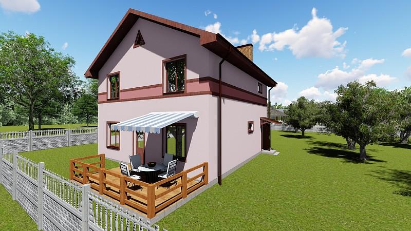 """Проект бюджетного двухэтажного дома """"Видный"""" - визуализация"""