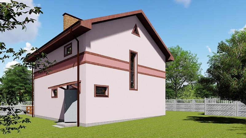 """Бюджетный двухэтажный жилой дом """"Видный"""""""