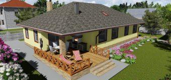 Проект бюджетного одноэтажного дома «Поселенец»
