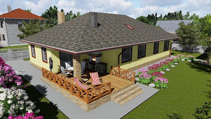 """Одноэтажный бюджетный дом """"Поселенец"""""""