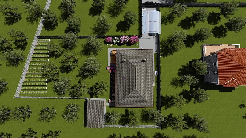 """Бюджетный дом """"Поселенец"""" - визуализация проекта"""