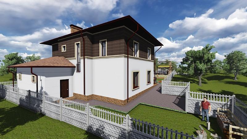 """Проект загородного двухэтажного дома """"Немышля"""""""