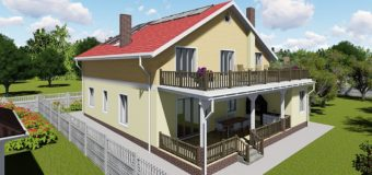 Проект многофункционального двухэтажного дома «Высокий»
