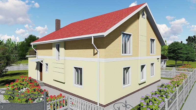 """Проект двухэтажного жилого дома """"Высокий"""""""