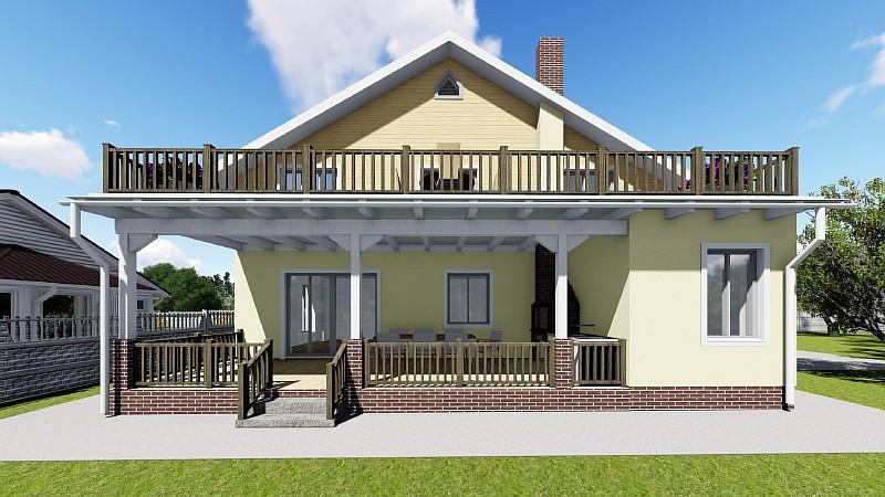 Многофункциональный загородный дом с террассой