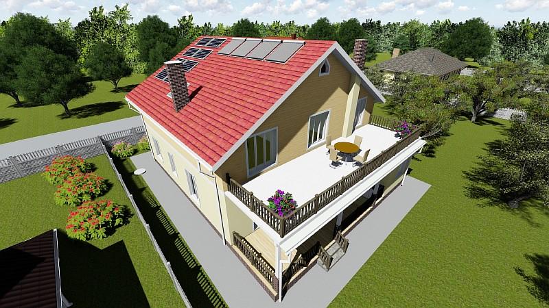 """Проект """"Высокий"""" - двухэтажный жилой загородный дом"""