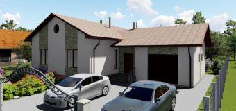 Проект одноэтажного дома с гаражом и террасой «Аспект»