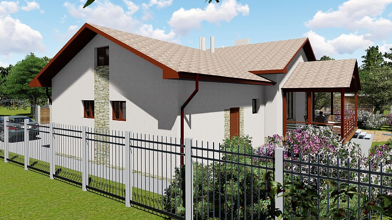 "Проект загородного дома с гаражом ""Аспект"""
