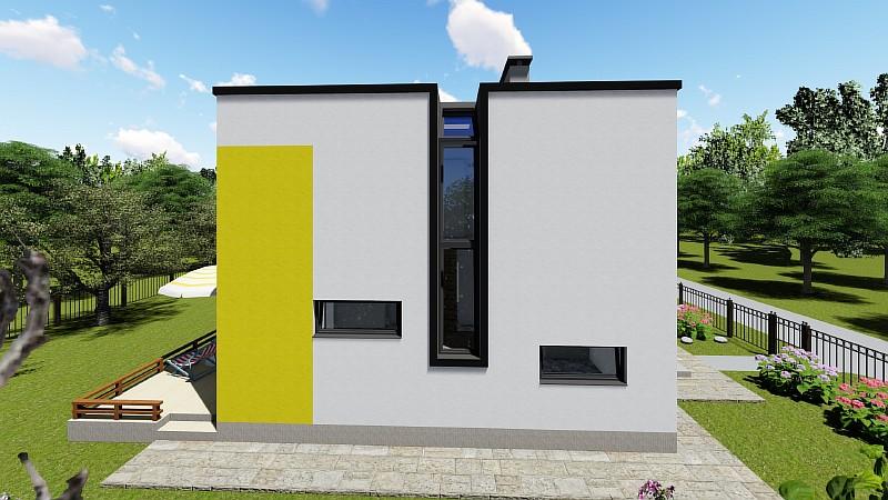 """Проект двухэтажного дома """"Супербюджетный"""" - визуализация"""