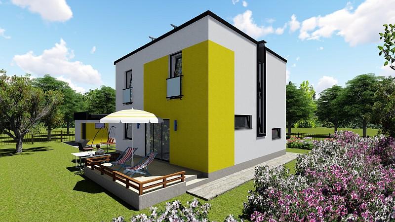 """Проект двухэтажного дома """"Супербюджетный"""""""