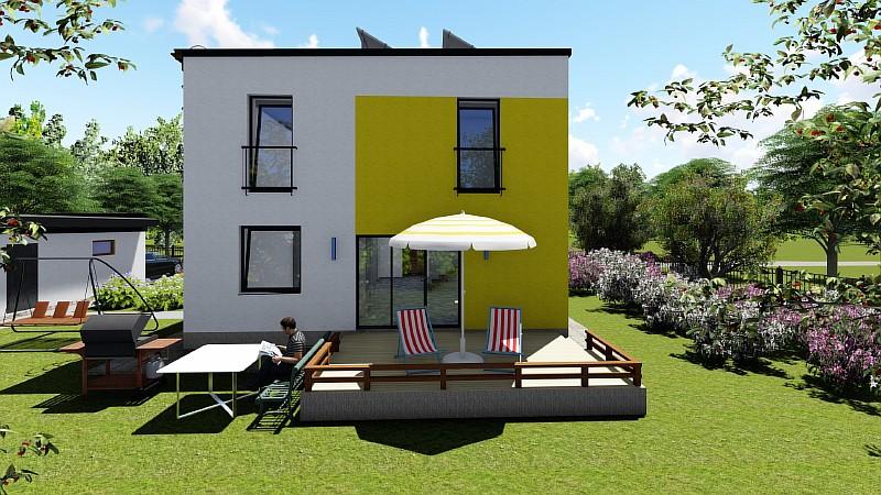"""Двухэтажный дом """"Супербюджетный"""" - визуализация проекта"""