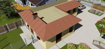 Проект гаража на 1 авто с хозяйственным блоком, летней кухней и подвалом «Хозяин 1»