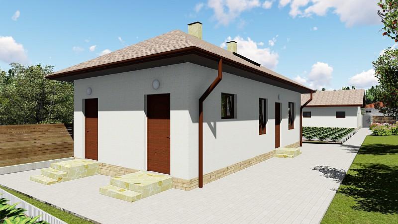 """Гостевой (дачный) дом с хозблоком """"Хозяин 2"""" - визуализация проекта"""